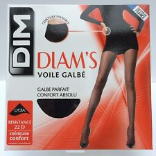 DIM Diam's Voile Galbe 22 Denier Tights with Lycra Black Size 1