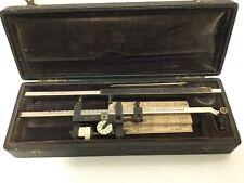 1916 Antique G. Coradi Zurich No. 25505 Planimeter w Box Maps Measuring