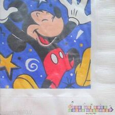 MICKEY MOUSE LUNCH NAPKINS (16) ~ Vintage Birthday Party Supplies Dinner Large