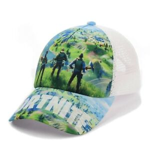 Fortnite Summer Cap With Mesh Game Сharacters One-size Unisex Top Quality