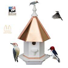 Woodpecker Birdhouse - Poly Azek Vinyl & Real Copper Roof Bird House Amish Usa