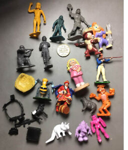 Junk Drawer Lot Vinyl Toy Figures – Capt Morgan, Baseball, Soldiers, Animals