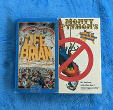 Monty Python 2 Vhs Tape Lot Comedy Life Of Brian Parrot Sketch Not Included