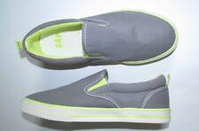NEW GAP KIDS Canvas Slip-On Sneakers Light Gray Size 3