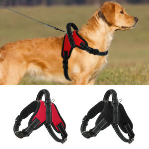 Adjustable Nylon Dog Harness Reflective Mesh Vest for Medium Large Dogs K9 Boxer