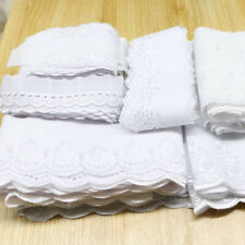 Wide 3-15 white cotton lace fabric, DIY yards 20 size mixed accessories garment