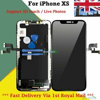 For Apple iPhone XS LCD Screen Digitizer Display Replacement 3D Touch + Frame UK