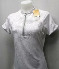New Ladies SMALL Nancy LOPEZ DESIRE short sleeve white polyester golf polo shirt