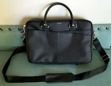 Cole Haan American Airlines Black Leather Attache Briefcase Laptop Bag