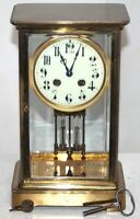 ANTIQUE 1890s FRENCH JAPY FRERES TALL CRYSTAL REGULATOR CLOCK W/ LIQUID PENDULUM