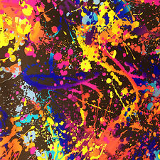 Paint splatter print nylon lycra spandex four way stretch B. fabric sold by yard