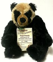 Rare Vintage Ulla Hermann Limited Edition Papa Panda Mohair Panda Bear