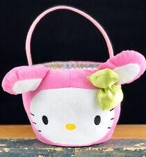 Sanrio Hello Kitty Plush Easter Basket 2011 Multi Purpose Collectible