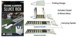 Aluminium Folding Sluice Box Extended 127cm Folded 38cm