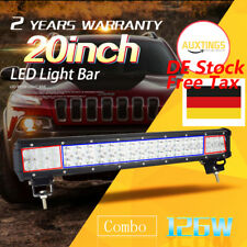 New 20 inch 126W LED LIGHT BAR COMBO Offroad DRIVING LAMP 4WD WORK ATV UTE 20''