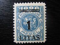 MEMEL KLAIPEDA Mi. #192 scarce mint stamp! CV $12.00