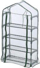 4 x 2 x 1 ft. Greenhouse 4 Wire Mesh Shelves Patio Deck Porch Portable Storage