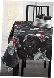 "Printed Halloween Tablecloth () 60"" x 120"" Rectangular Romantic Web"