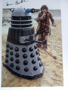 Tom Baker Signed Photo 10x8 DR WHO
