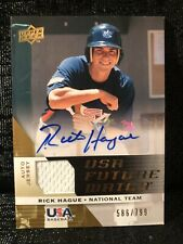 Rick Hague Signed 2009 Upper Deck USA Future Watch Auto Patch Baseball Card /799