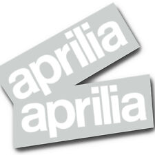 Aprilia rsv tuono rs White text Motorcycle graphics stickers decals x 2PCS Large