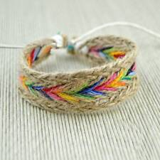 Hippy Boho Bracelet Jewelry Cotton Friendship 1Pc Fashion Hemp Rope Woven Bangle