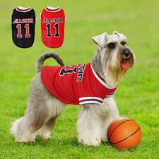 Dog Cat Clothes Puppy Dog Sport T-shirt Soft Dog Mesh Vest Pet Clothing Bulldogs