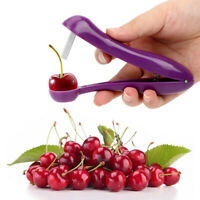 Cherry Olive Pitter Stoner Stone Pit Seed Remover Easy Squeeze Grip Xmas Gift DD