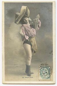 c 1904 Music Hall Cabaret Mlle. DE MORLAIX risque undivided back photo postcard