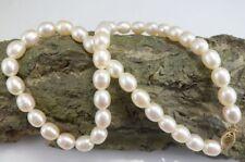 schimmernde Perlen Halskette mit 585 Gelbgold Verschluß