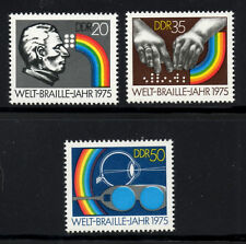 (Ref-4503) East Germany 1975 Int.Braille Year  SG.E1806/E1808 MInt (MNH)