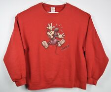 Disney Store Men's XXL MICKEY MOUSE RED CREWNECK SWEATER VTG EUC FASHION