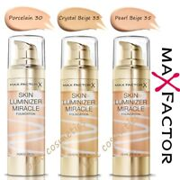 New Max Factor Skin Luminizer Miracle Foundation 4 Different Shades 30ml Sealed