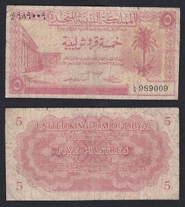 Libia 5 piastres Kingdom of Libya 1951 MB/F  C-07