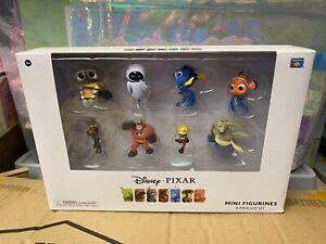 Disney Pixar Mini Figurines 8-Piece Gift Set Wall-E Eve Nemo Dory Incredibles