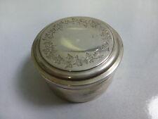 Antique 1868 Munich, Germany 800 Silver Dresser Box with Gold Wash Interior