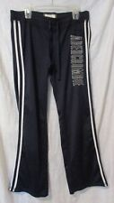 ABERCROMBIE NAVY BLUE WHITE STRIPES LETTERS POLYESTER ATHLETIC FITNESS PANTS L
