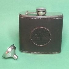 Timberland Flask 6 oz Stainless Steel Leather Cover with Funnel New in Box