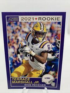 2021 Panini Score Terrace Marshall Jr. RC Rookie Card Carolina Panthers #70
