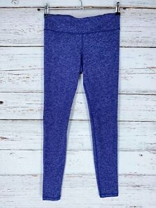 Under Armour Womens Sz Small Leggings Heather Purple Blue Active Fitness READ