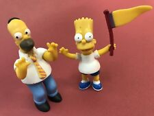 "2 Simpsons plastic figurines, Homer, Bart, 2009 Fox, 3""- 3 1/4"" tall, tpf.com.au"