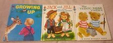 Vintage Lot of 3 TIP TOP ELF BOOKS Teddy Bear Twins GROWING UP Jack and Jill EUC