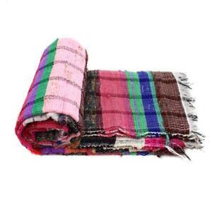 Indian Rectangular Creatively Hand Woven Chindi Rag Rug Floor Carpet Hipster Mat