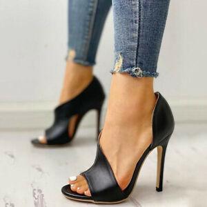 Summer Sandals Shoe Sexy Women Thin Stiletto High Heels Black Open Toe Sandals