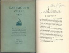 Dartmouth Verse 1930 Anthology of Poems New Hampshire Limited Signed HC