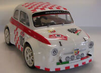 0600- Carrozzeria Completa Body RC scala 1/16 FIAT 500 + SPOILER +DECALS