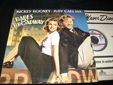 "BABES ON BROADWAY<>MICKEY ROONEY/JUDY GARLAND<>2X12"" Laserdiscs<>MGM ML101677"