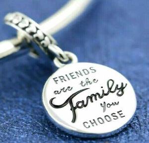Genuine Pandora 925 ALE Sterling Silver Friends are Family Charm 798124EN16