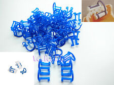 100pcs Disposable Cotton Roll Holder Blue Clip For Dental Clinic