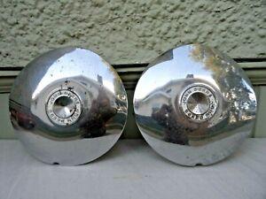 Pair of Vintage John Deere Embossed Hub Caps* Must See No Reserve!